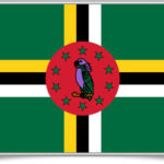 dominica-framed-flag